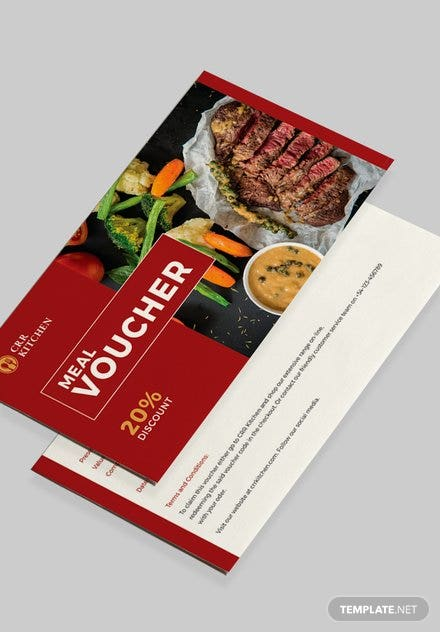 Free Meal Voucher Template
