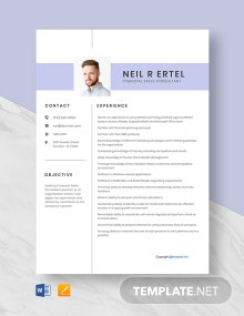 Free Financial Sales Consultant Resume Template