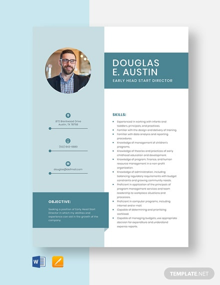 Early Head Start Director Resume Template