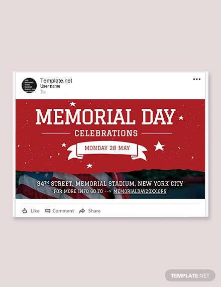 Free Memorial Day LinkedIn Post Template