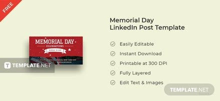 Memorial Day LinkedIn Post Template