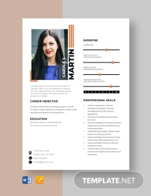 Financial Service Manager Resume Template