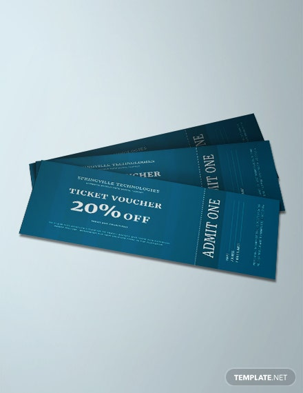 Free Ticket Voucher Template