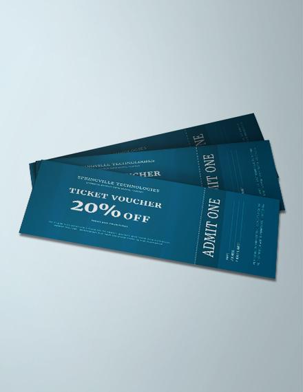 Free Ticket Voucher Template