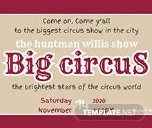 Free Circus Admission Ticket Template