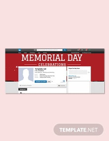 Free Memorial Day LinkedIn Profile Banner Template