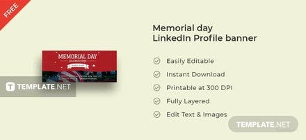 Memorial Day LinkedIn Profile Banner Template