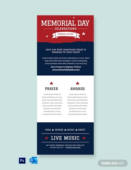 Free Memorial Day Newsletter Template