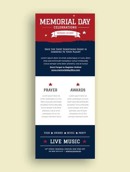 Memorial Day Newsletter Template
