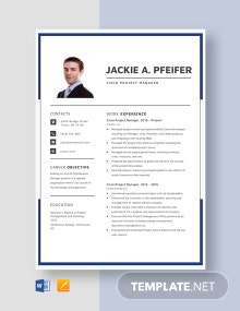 Cisco Project Manager Resume Template