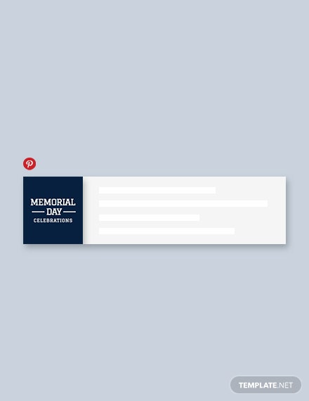 Free Memorial Day Pinterest Board Cover Template