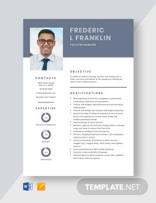 Free Facilities Manager Resume Template