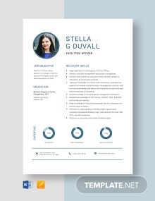 Free Facilities Officer Resume Template