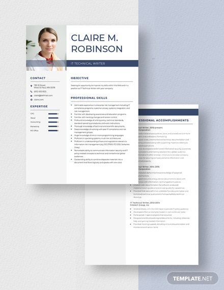 IT Technical Writer Resume Download