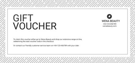 Beauty Voucher Template