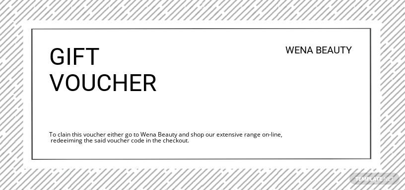 Beauty Voucher Template
