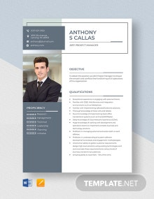 J2EE Project Manager Resume Template
