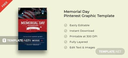Memorial Day Pinterest Pin Template