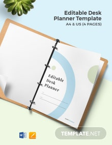Free Editable Desk Planner Template