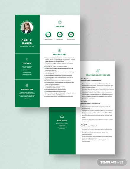 Health Care Analyst Resume Download