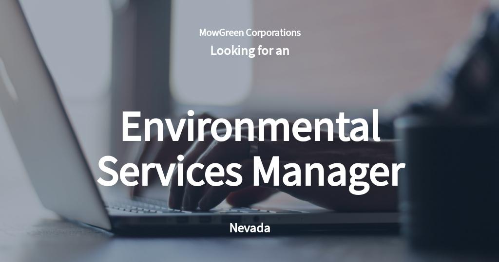 Environmental Services Manager Job Ad/Description Template