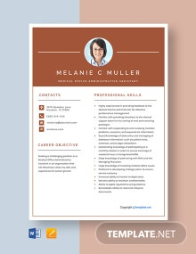 Free Medical Office Administrative Assistant Resume Template