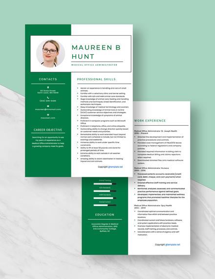Medical Office Administrator Resume Download