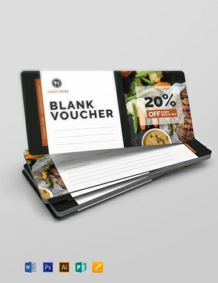 Free Blank Voucher Template