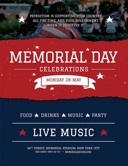 free memorial day poster template download 536 social media
