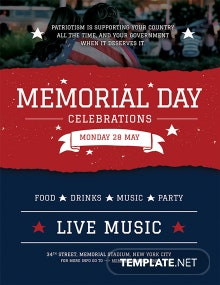Free Memorial Day Poster Template