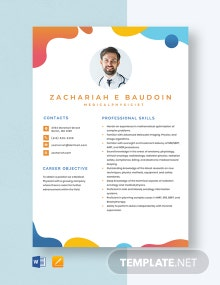 Medical Physicist Resume Template