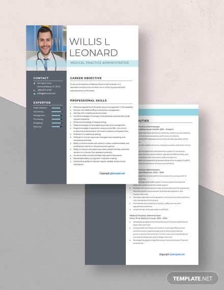 Medical Practice Administrator Resume Download