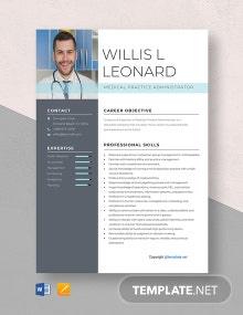 Free Medical Practice Administrator Resume Template