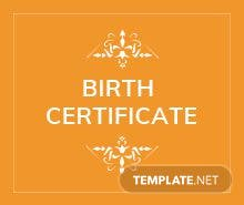 Free Official Birth Certificate Template