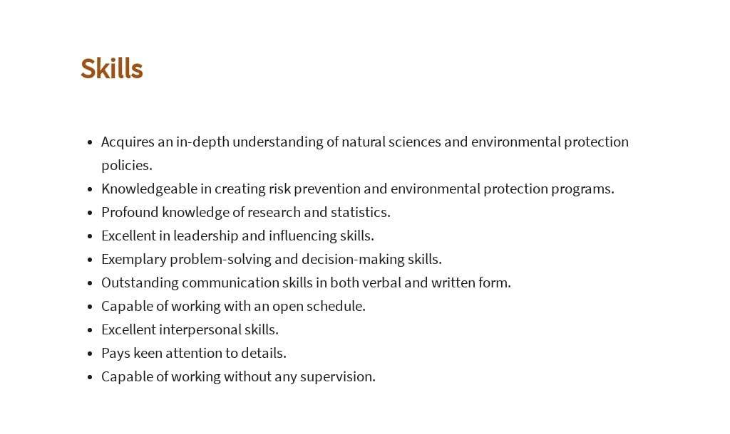 Free Environmental Health Specialist Job AD/Description Template 4.jpe