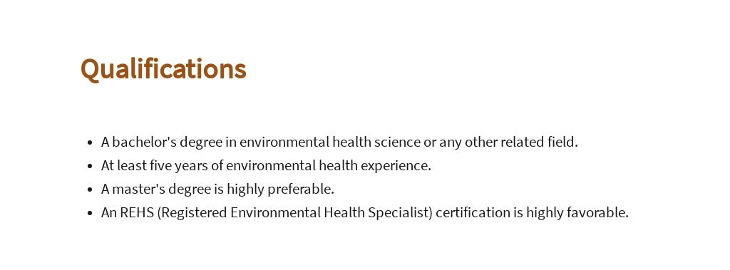 Free Environmental Health Specialist Job AD/Description Template 5.jpe