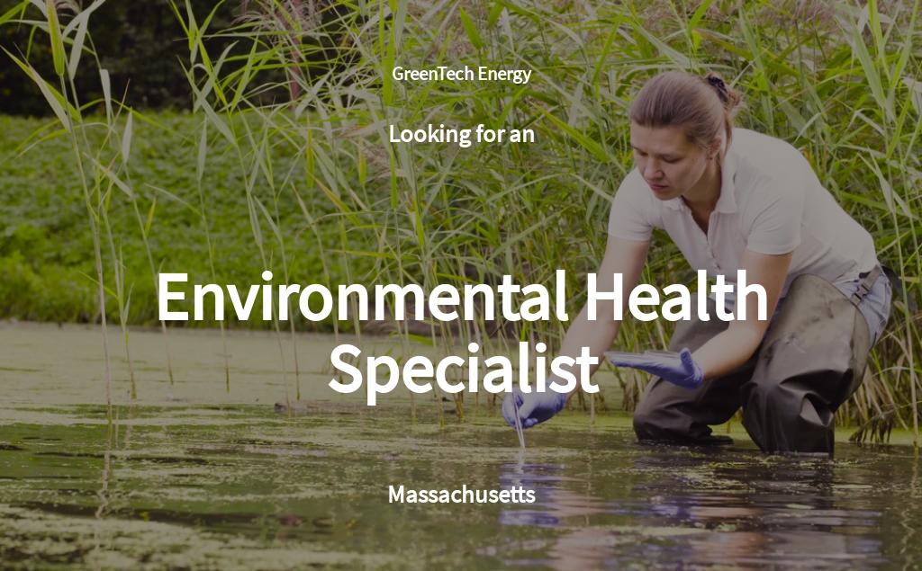 Free Environmental Health Specialist Job AD/Description Template.jpe