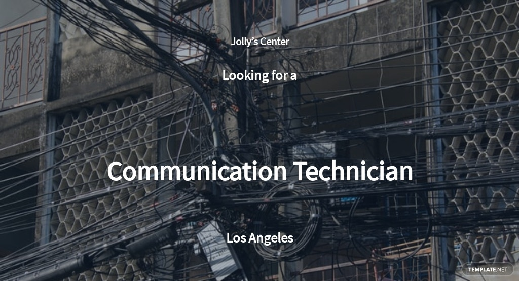 Communication Technician Job Description Template