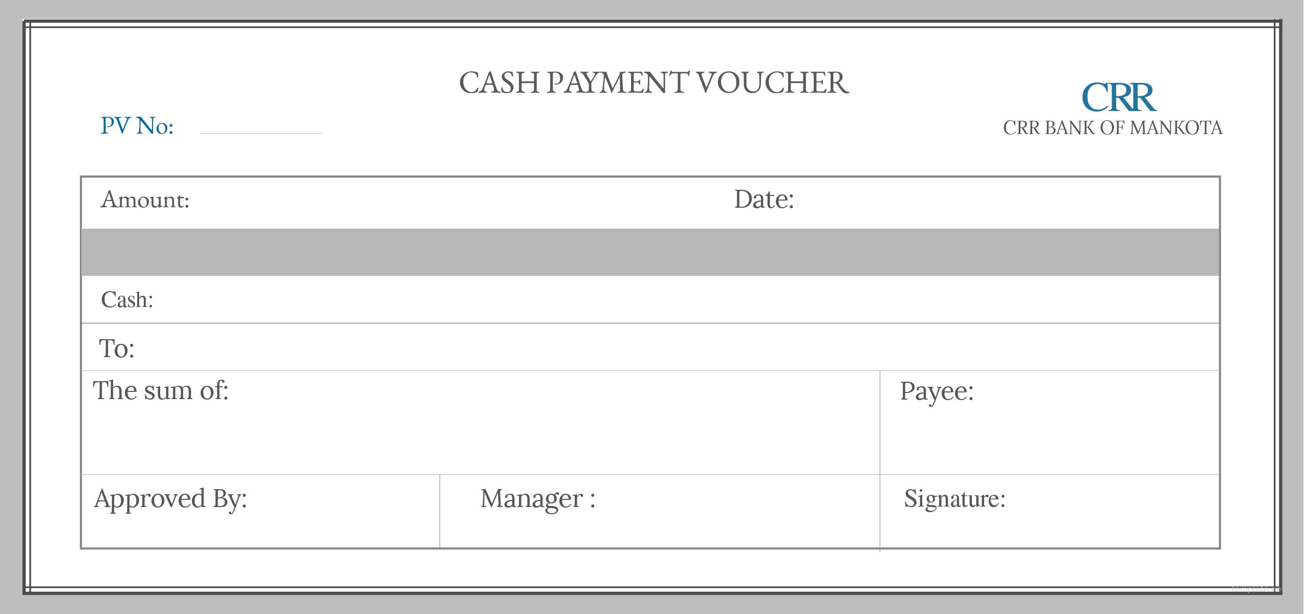 cash payment voucher format tool