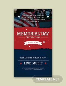 Free Memorial Day Snapchat Geofilter Template