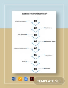 Business Structure Flowchart Template