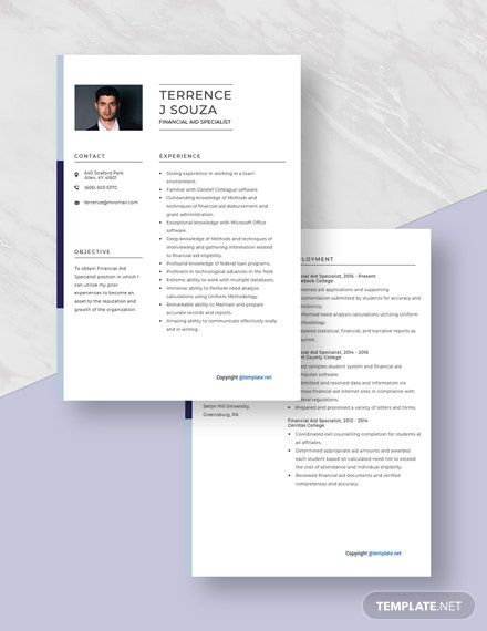 Financial Aid Specialist Resume Download