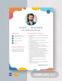 Free Early Intervention Specialist Resume Template