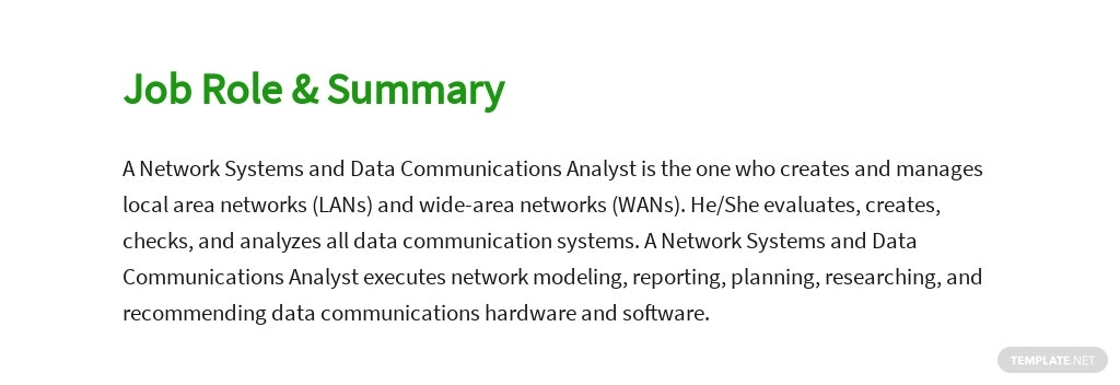 Free Network Systems and Data Communications Analyst Job Ad/Description Template 2.jpe