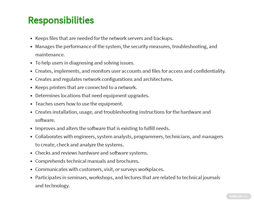 Free Network Systems and Data Communications Analyst Job Ad/Description Template 3.jpe