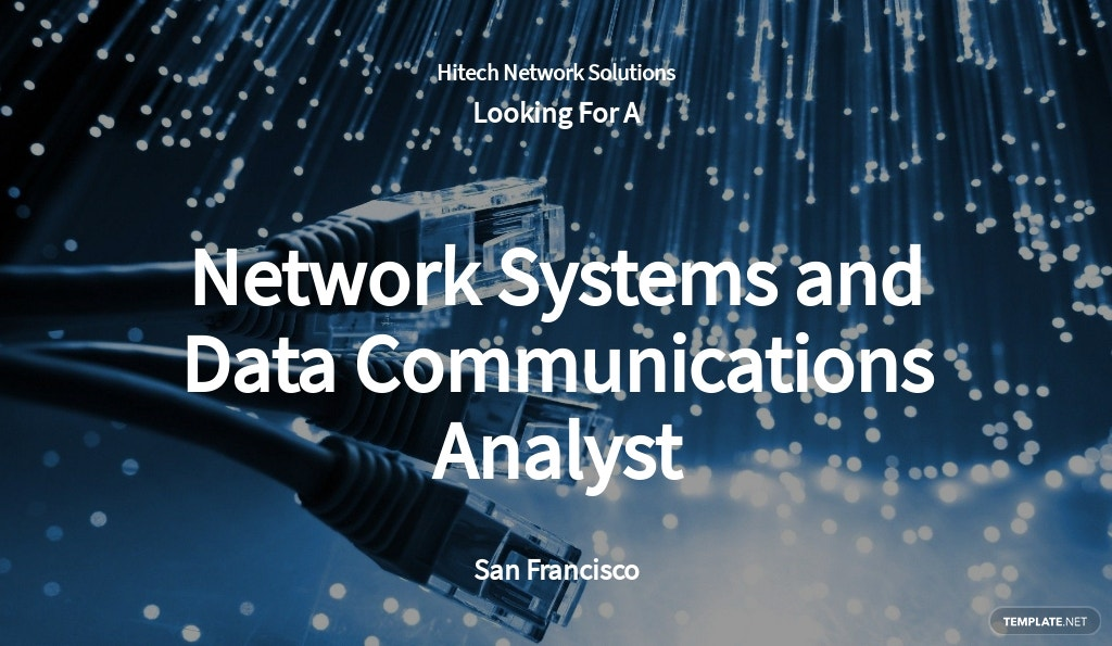 Free Network Systems and Data Communications Analyst Job Ad/Description Template.jpe