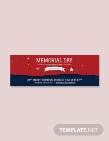 Free Memorial Day Tumblr Banner Template