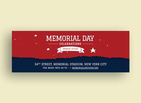 Memorial Day Tumblr Banner Template