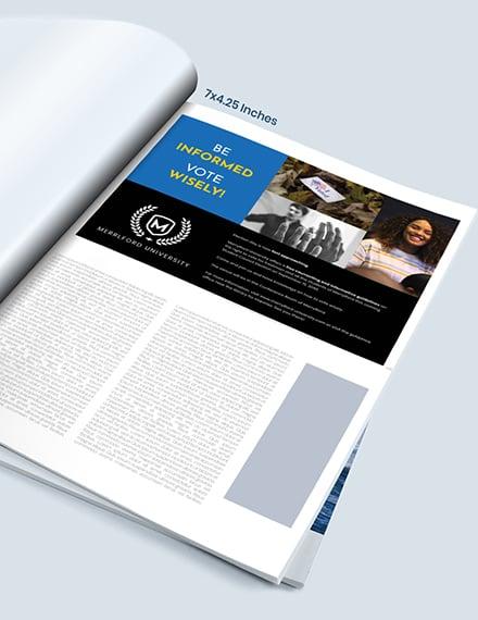 School Campaign Magazine Ads Example