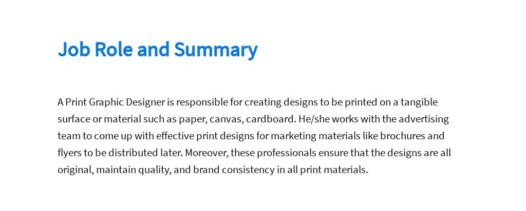 Free Print Graphic Designer Job Description Template 2.jpe